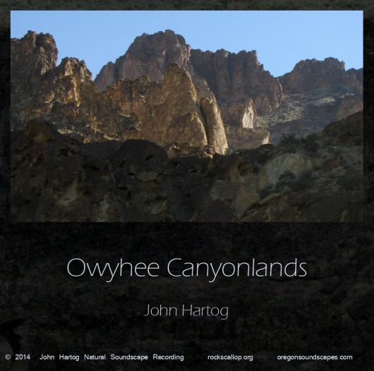 Owyhee Canyonlands cover art